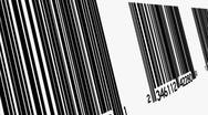 Stock Video Footage of Bar codes Looping Animated Background