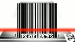 Bar Codes Scanned Background Two Loop - stock footage