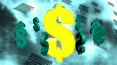 Dollar Signs and Bar Codes Abstract Looping Animated Background - stock footage
