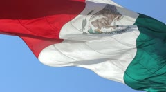 Giant Mexican Flag Stock Footage
