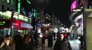 Hurried Christmas Shoppers in London Stock Footage