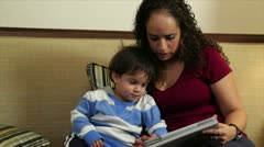 Mom and baby quiet time Stock Footage