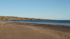 Beach at Lunan Bay Angus Scotland Stock Footage
