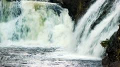 Waterfall Kivach in Karelia, Russia Stock Footage