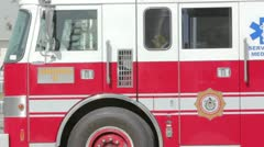 Firefighter truck Stock Footage