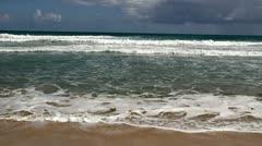 Receding waves - stock footage