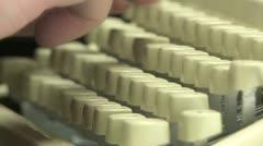 Typewriter Keyboard 01 TL Stock Footage
