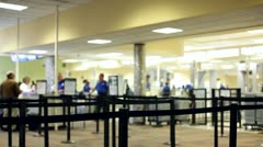Line at Airport Security check Stock Footage