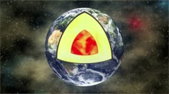 Earth's core Stock Footage