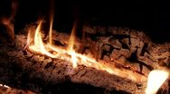 Fireplace Logs Stock Footage