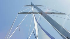 Mast of the yacht  HD Stock Footage