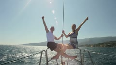 Sea trip on the yacht HD - stock footage