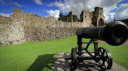 Iconic shot of Castle Walls and Canon, Ireland GFHD Stock Footage