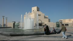 Museum of Islamic Art in Doha. Qatar, Middle East Stock Footage