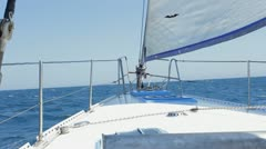 Yacht in motion HD Stock Footage