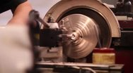Machining rod with lathe Stock Footage