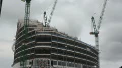 CO-OP Angel Square Manchester Building under construction-sky moving fast Stock Footage