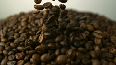 Coffee beans, Slow Motion Stock Footage