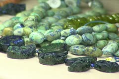 African Trade Beads Close-up Stock Footage