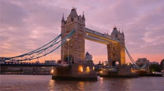 Tower Bridge in London Stock Footage
