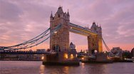 Stock Video Footage of Tower Bridge in London