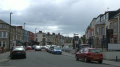 Whitley Bay Party Street Stock Footage