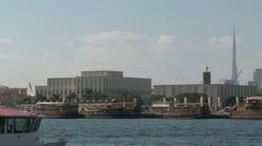 Ferry Harbor dubai Stock Footage