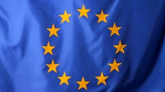 Close-up of a European Union flag Stock Footage