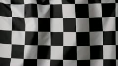Close-up of a checkered flag Stock Footage