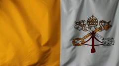 Close-up of a Vatican City flag waving Stock Footage