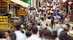 Takeshita Dori Street Stock Footage