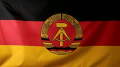 Close-up of a German Democratic Republic flag waving Stock Footage