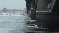 Bridge over Dnipro Stock Footage