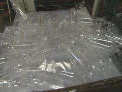 Transparent PET Bottles thrown in heap in factory. Stock Footage