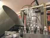Special equipment for production of PET bottles. Stock Footage