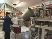 PET bottle factory. Human intervention. Stock Footage
