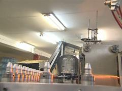 Special plastics blowing equipment for bottles. Stock Footage