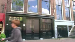 Anne Frank House Stock Footage
