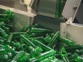 Plastic material for pet bottle production. Stock Footage