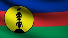 New Caledonia flag. Stock Footage