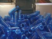 Blue plastic forms for PET bottles production. Stock Footage