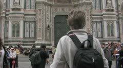Cathedral in Florence, Italy Stock Footage