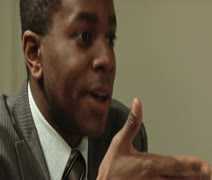 Close-up shot lockdown of a man eating and talking Stock Footage