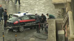 Police in Florence Italy Stock Footage