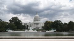 WS, Lockdown of the United States Capitol Building, Washington DC, USA Stock Footage