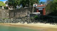 Stock Video Footage of Old San Juan oldest entrance and stone walls