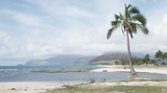 WS, Lockdown, View of a beach and mountains in the background, Hawaii, USA Stock Footage