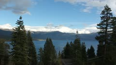 Stock Video Footage of lake tahoe cloud timelapse hq 1080p
