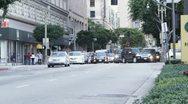 WS, Lockdown, Busy street scene, Los Angeles, California, USA Stock Footage