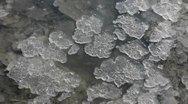 Pieces of salt moving on salt lake Stock Footage